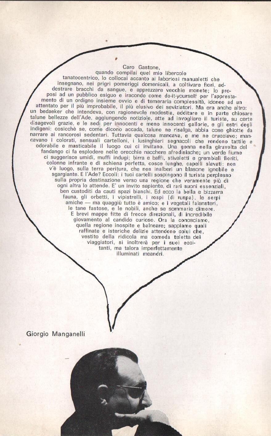 G. Manganelli, brochure della mostra di Novelli alla galleria Il segno, 1965