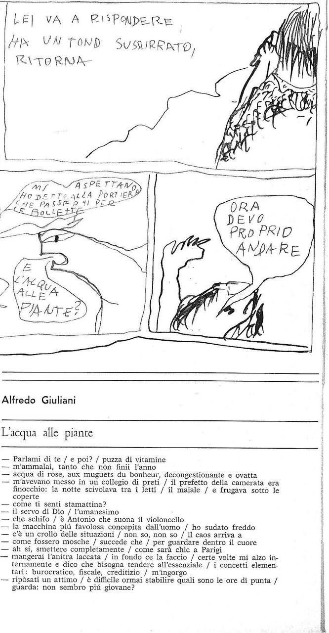 A. Giuliani, G. Novelli, L'acqua alle piante, particolare, Grammatica 1967
