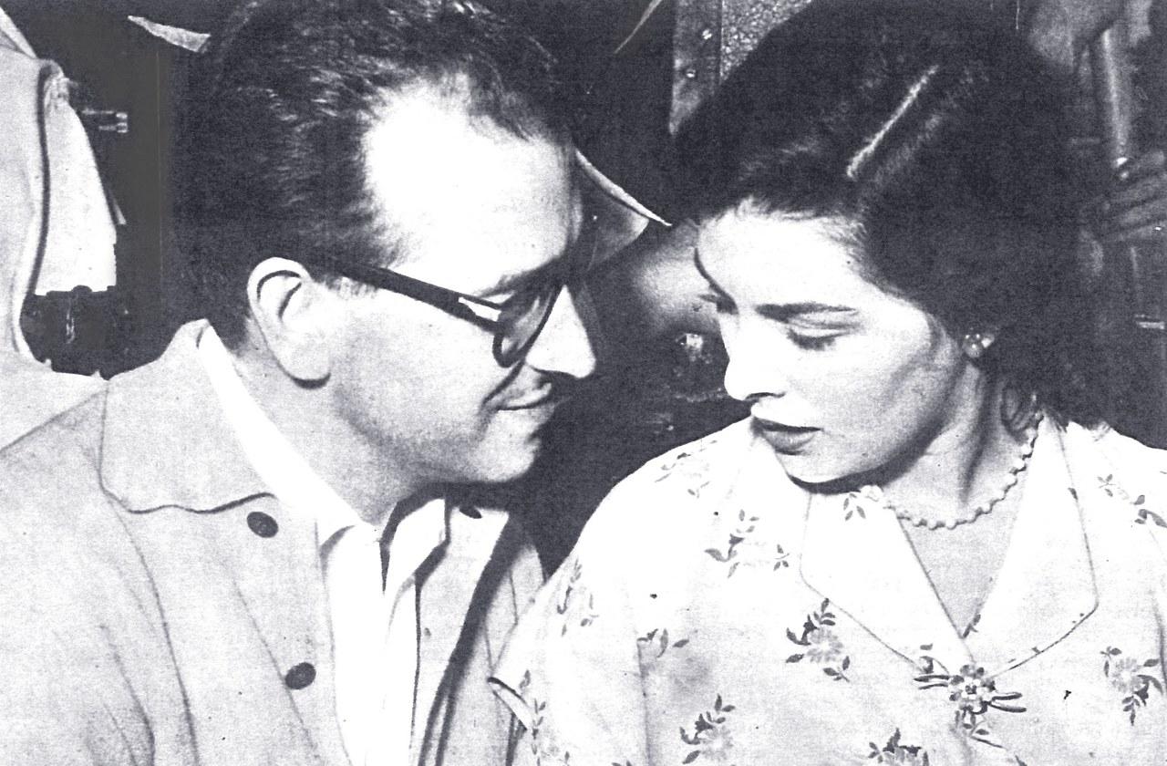 Irene Galter e Antonio Pietrangeli sul set di Il sole negli occhi