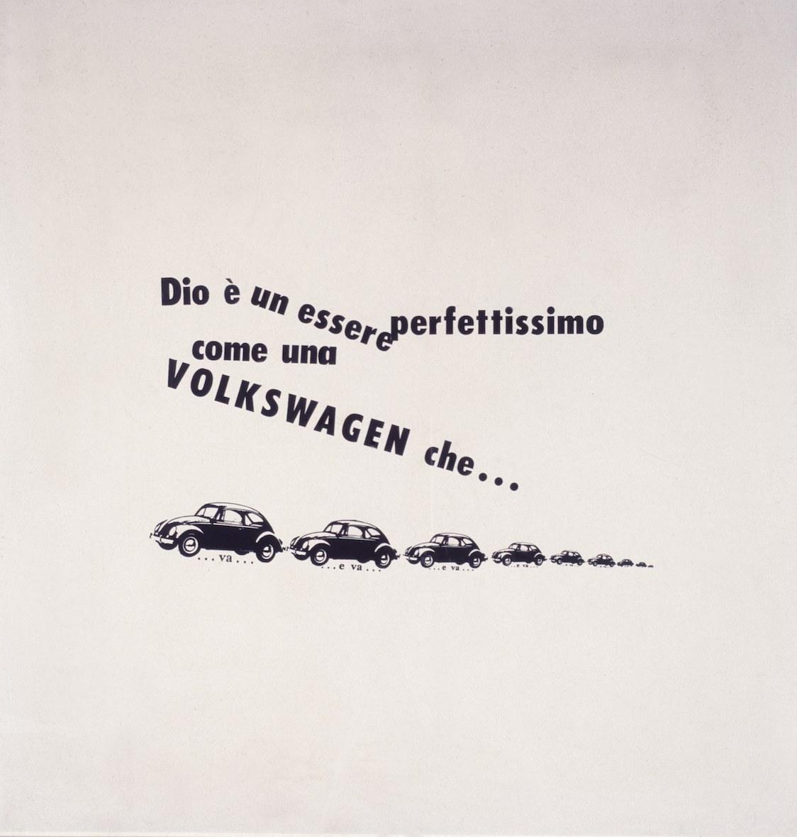 Emilio Isgrò, Wolkswagen, 1964
