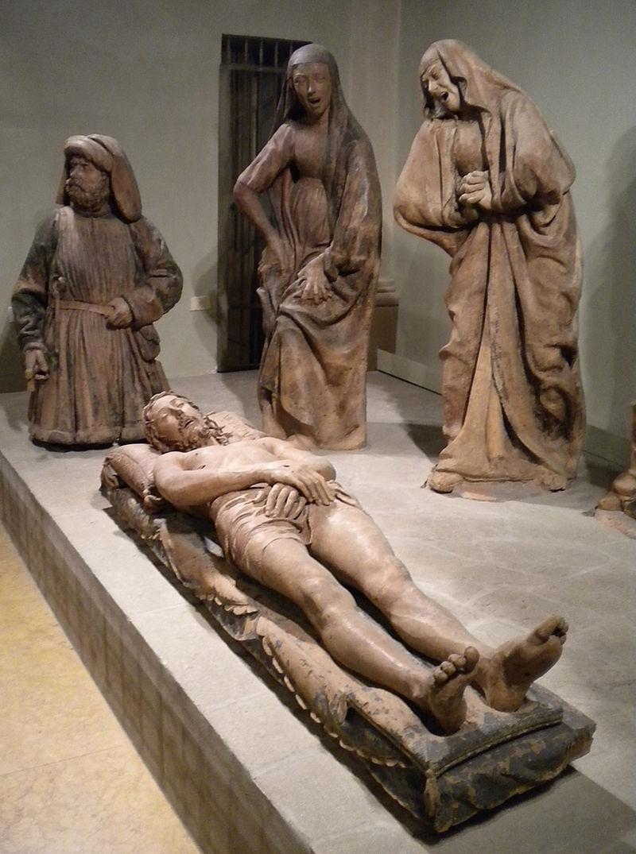 Niccolò dell'Arca, Compianto sul Cristo morto, 1463-1490 (particolare)