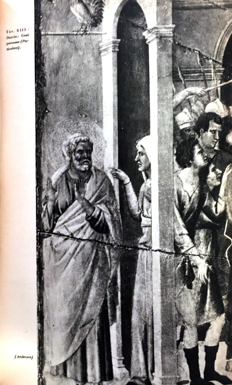 Fig. 1 Duccio di Buoninsegna, Maestà del Duomo di Siena (particolare), 1308-1311, Museo dell'Opera Metropolitana del Duomo, Siena