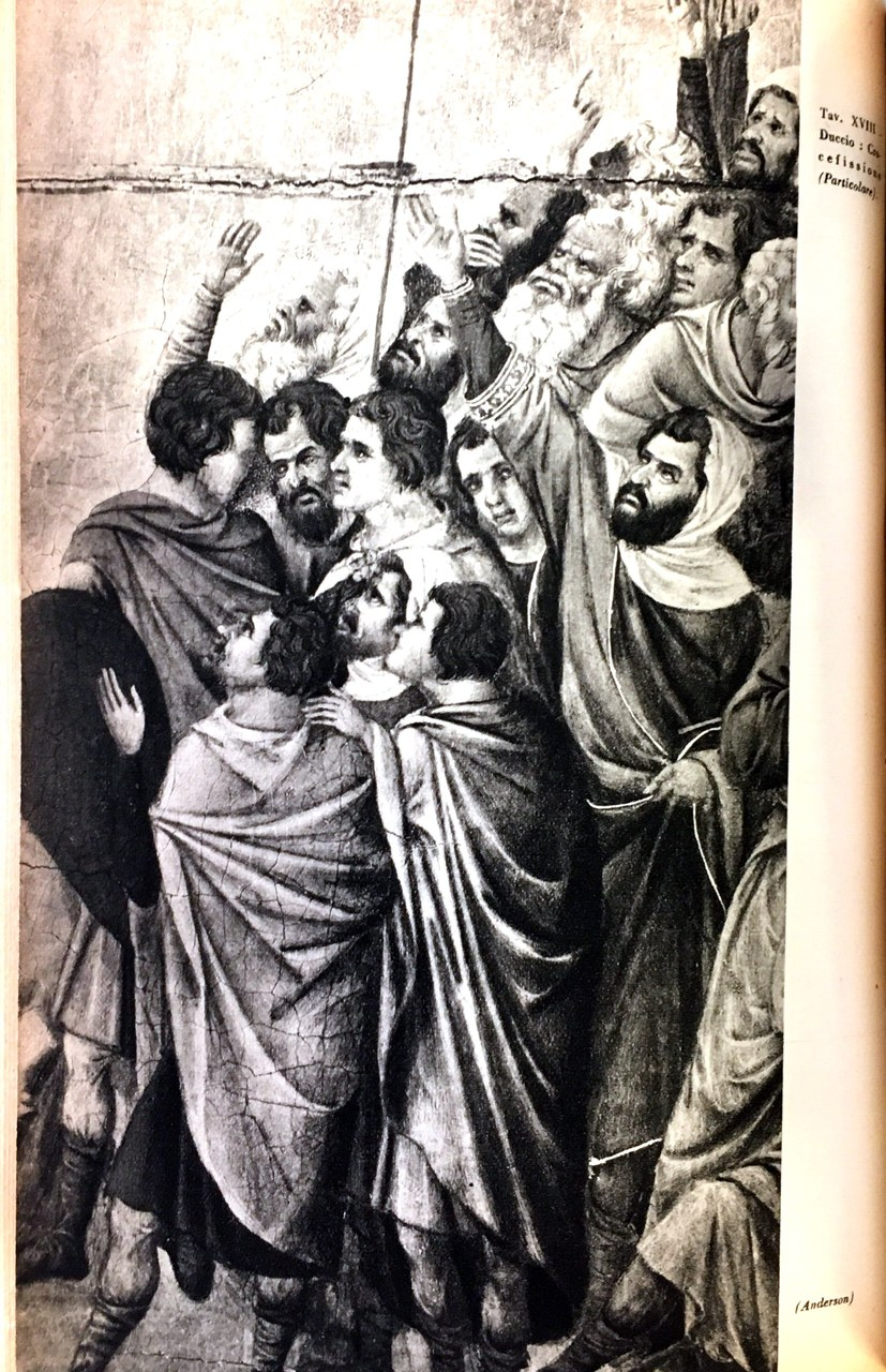 Fig. 5 Duccio di Buoninsegna, Maestà del Duomo di Siena (particolare), 1308-1311, Museo dell'Opera Metropolitana del Duomo, Siena
