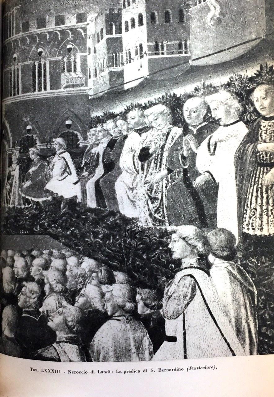 Fig. 7 Neroccio di Bartolomeo de' Landi, La predicazione di San Bernardino (particolare), 1470 ca., Palazzo Pubblico, Siena