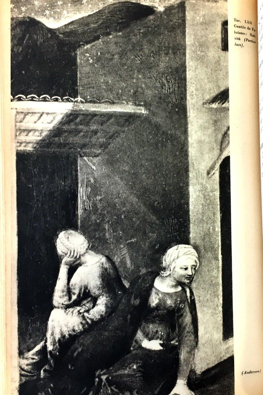 Fig. 8 Gentile da Fabriano, Adorazione dei Magi (particolare), 1423, Galleria degli Uffizi, Firenze