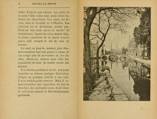 Due pagine di Bruges-la-morte di Georges Rodenbach (1892)