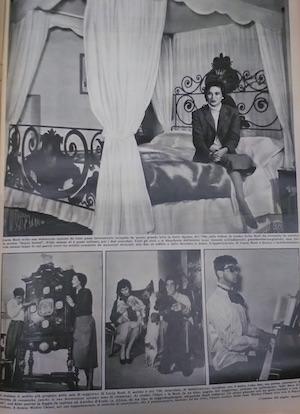 Lucia Bosé e Walter Chiari su Oggi, 11 febbraio 1954