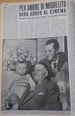 Un articolo dedicato alla coppia Bosè-Dominguín