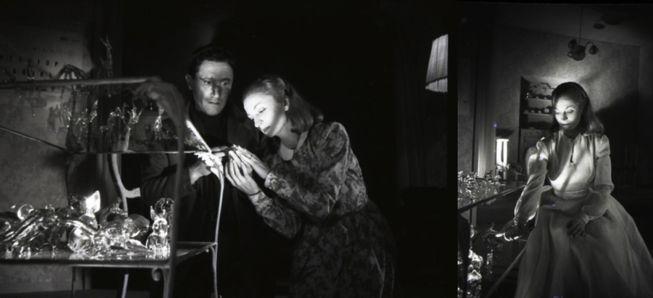 Rina Morelli (Laura) e Paolo Stoppa (Tom) in Zoo di vetro di Tennessee Williams, regia di Luchino Visconti (1946), Museo Biblioteca dell'Attore di Genova.