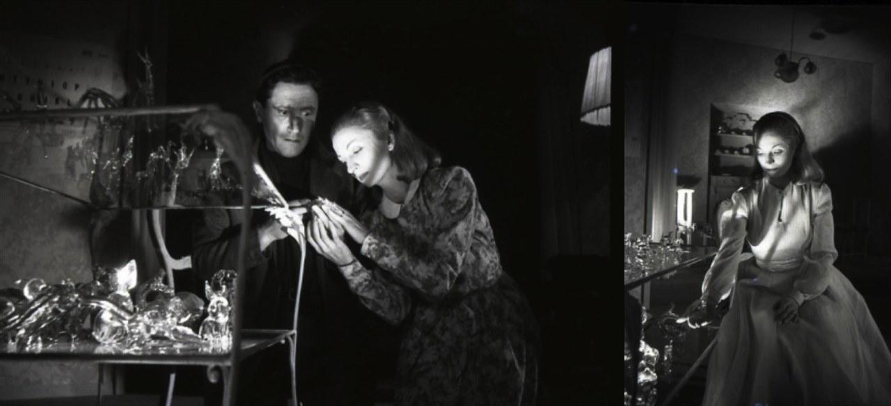 Rina Morelli (Laura) e Paolo Stoppa (Tom) in Zoo di vetro di Tennessee Williams, regia di Luchino Visconti (1946), Museo Biblioteca dell'Attore di Genova.