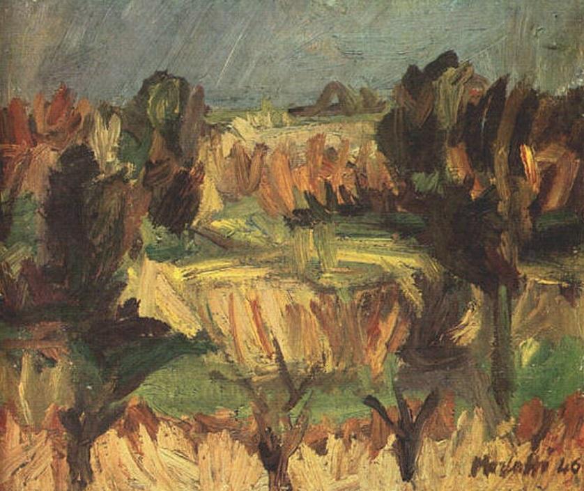 Ennio Morlotti, Paesaggio, 1946