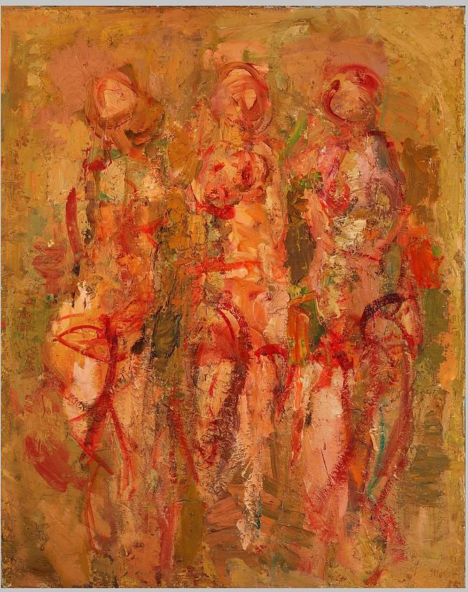 Ennio Morlotti, Le Tre Grazie, 1955