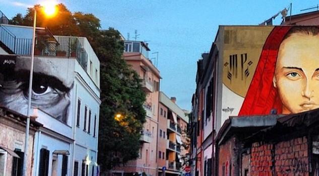 Murale dedicato a Pasolini al Pigneto