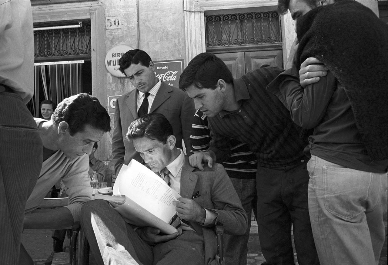 Pasolini sul set di Accattone © Angelo Pennoni