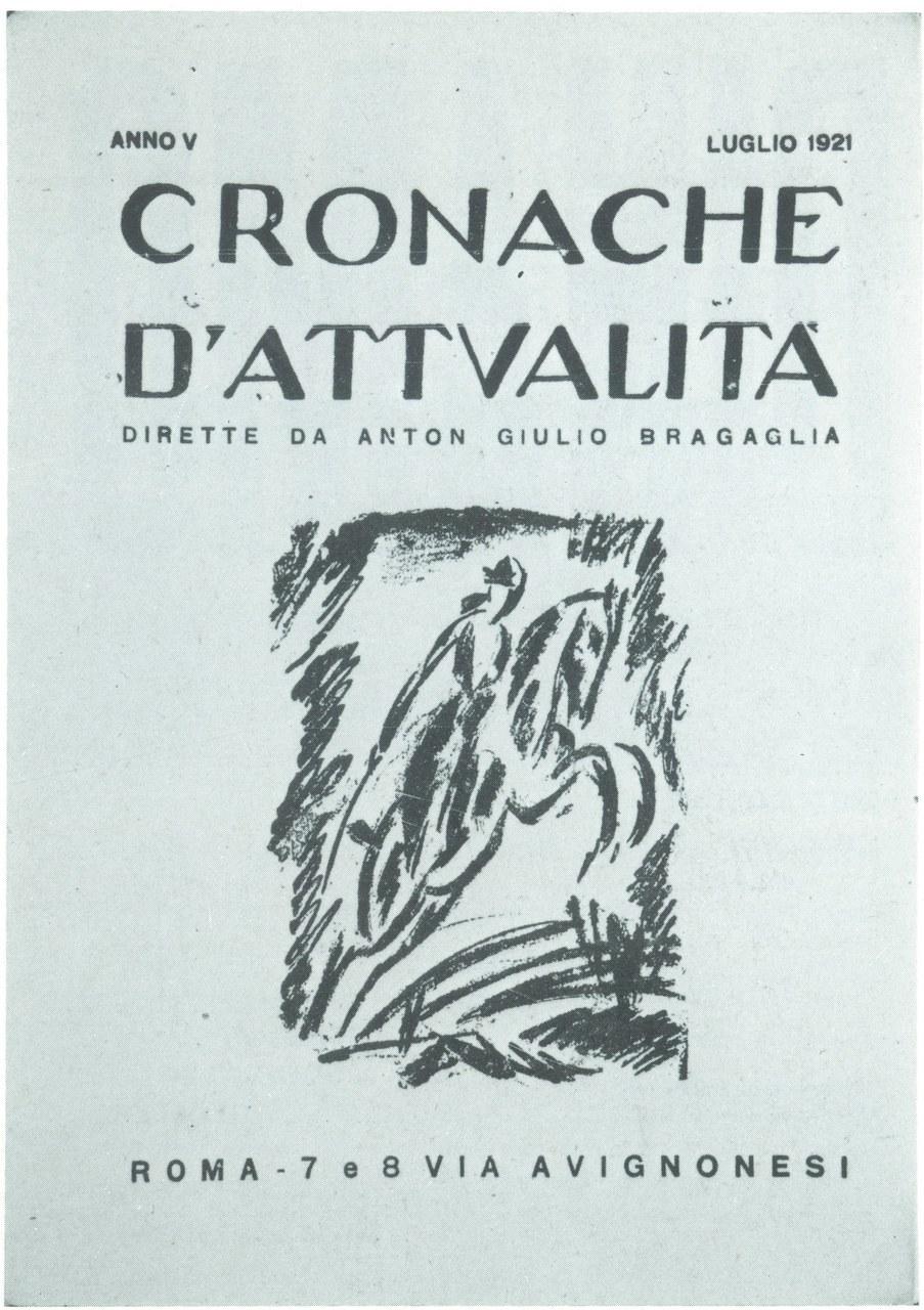 Copertina della rivista Cronache d'Attualità di A. G. Bragaglia, terza serie, luglio 1921