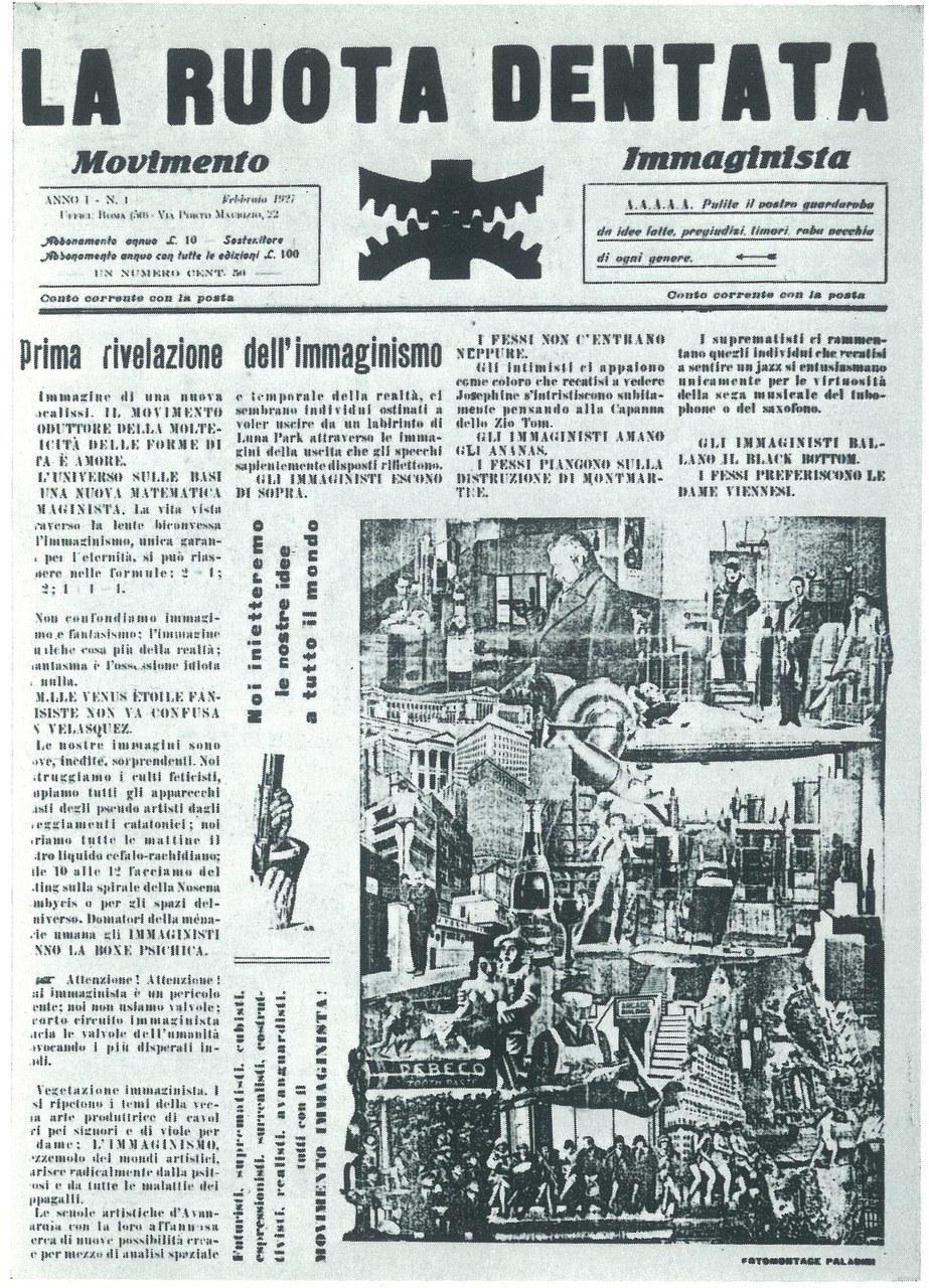 Numero unico della rivista del movimento Immaginista, La Ruota dentata, 1 febbraio 1927