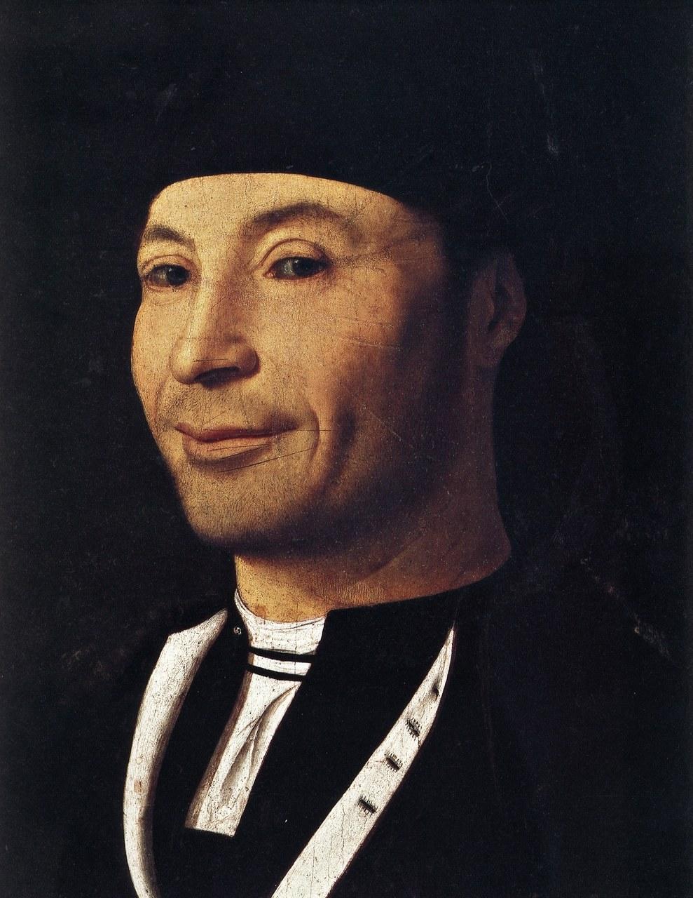 Antonello da Messina, Ritratto d'ignoto, olio su tavola (1465-1476
