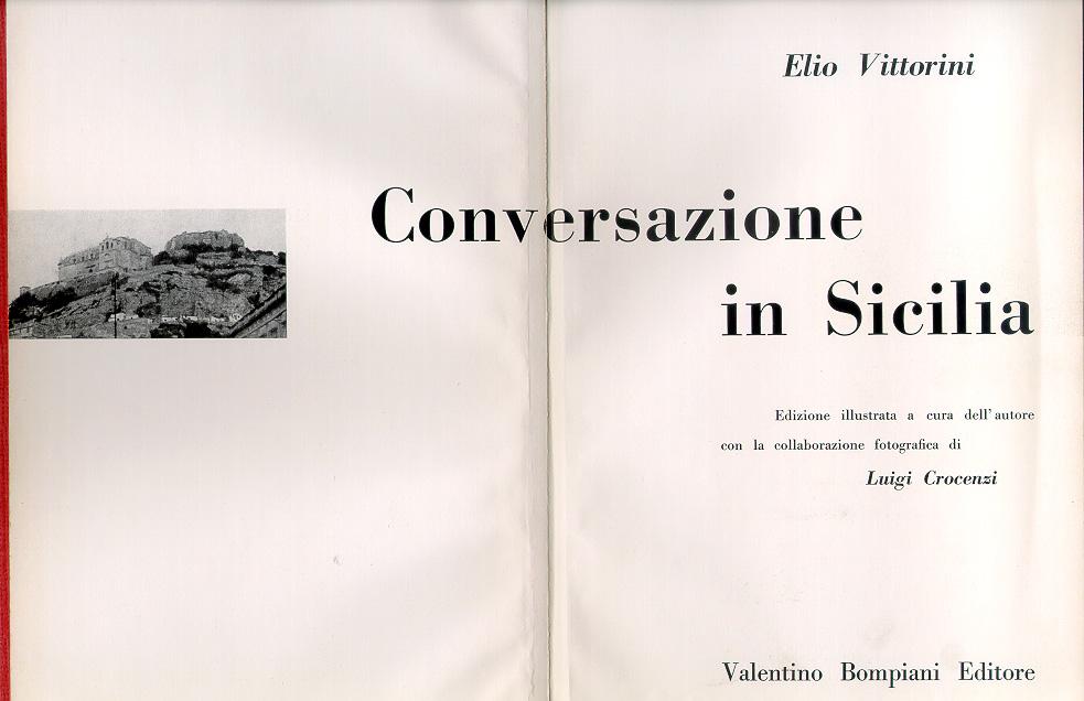 Elio Vittorini, Conversazione in Sicilia, Milano, Bompiani, 1953 (frontespizio)