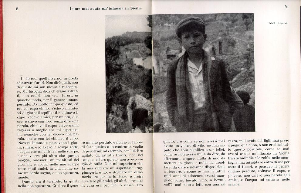 Elio Vittorini, Conversazione in Sicilia, Milano, Bompiani, 1953 (pagina interna)