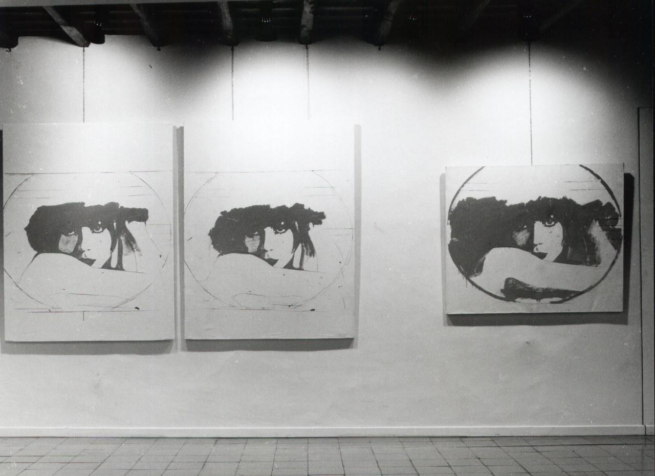 Veduta della mostra Giosetta Fioroni, galleria La Tartaruga, Roma, gennaio 1965