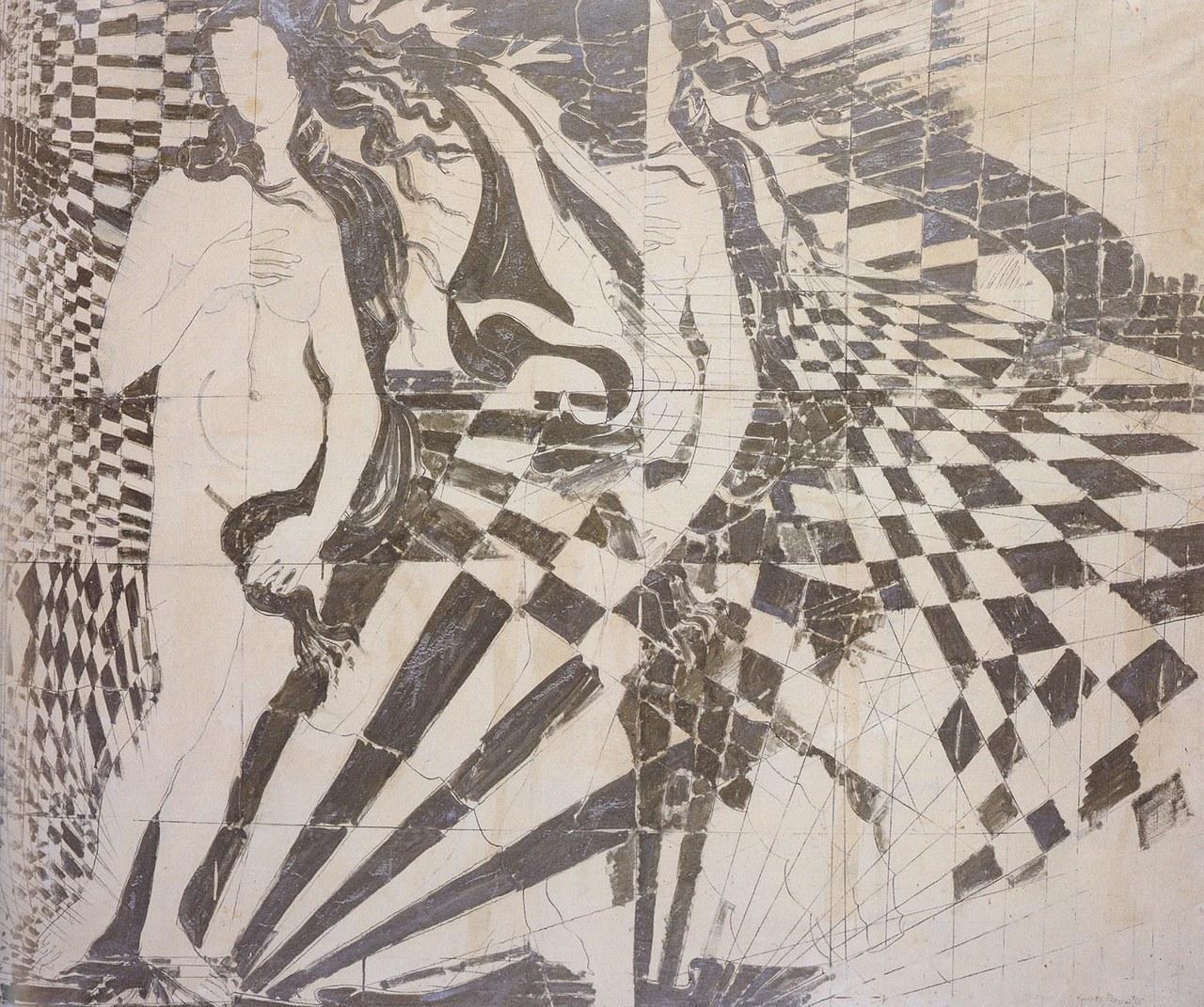 Giosetta Fioroni, Nascita di una Venere Op, 1965