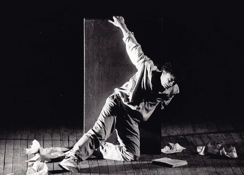 Franco Branciaroli in In exitu, regia di Giovanni Testori, Teatro della Pergola 9 novembre 1988. © Valerio Soffientini