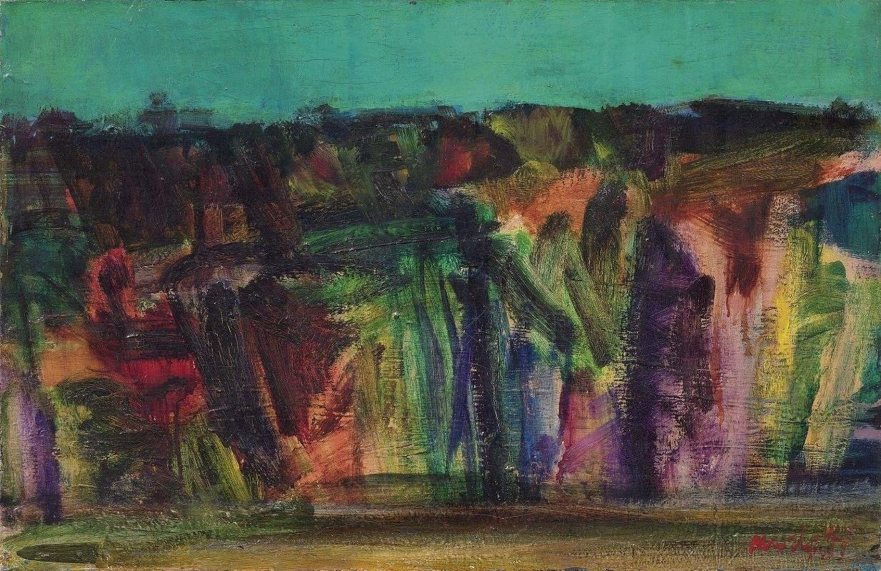 Ennio Morlotti, Paesaggio di Brianza, 1953