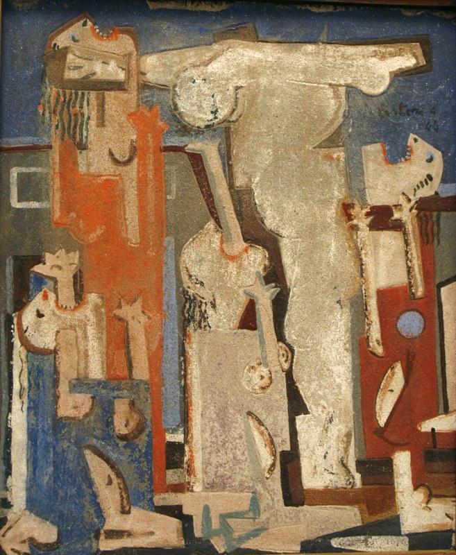 Giovanni Testori, Crocifissione, 1944