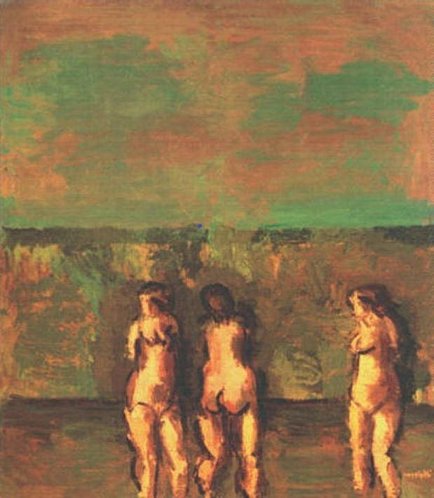 Ennio Morlotti, Tre bagnanti, 1992