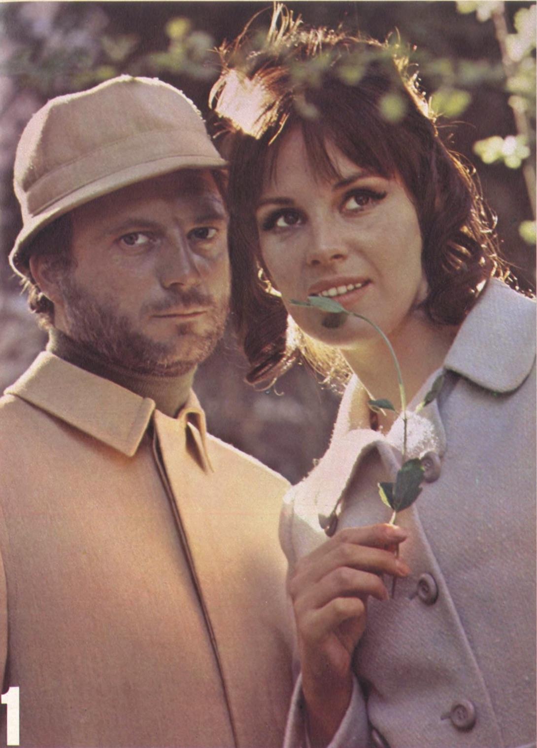 Franco Interlenghi e Antonella Lualdi posano in un servizio fotografico per la rivista Playmen, 1968
