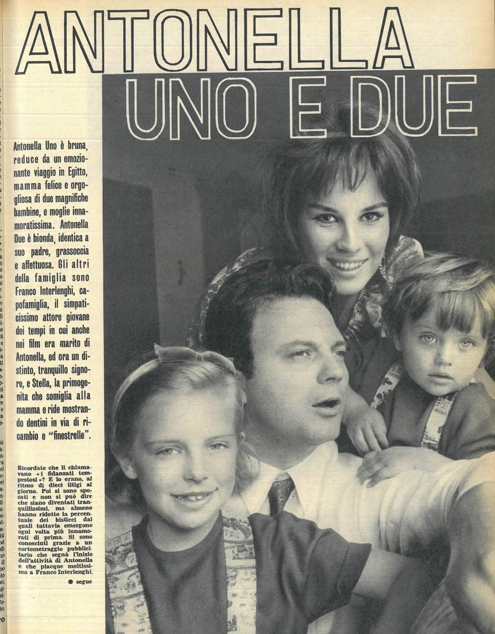 La famiglia Interlenghi sulle pagine della rivista Così, 1963