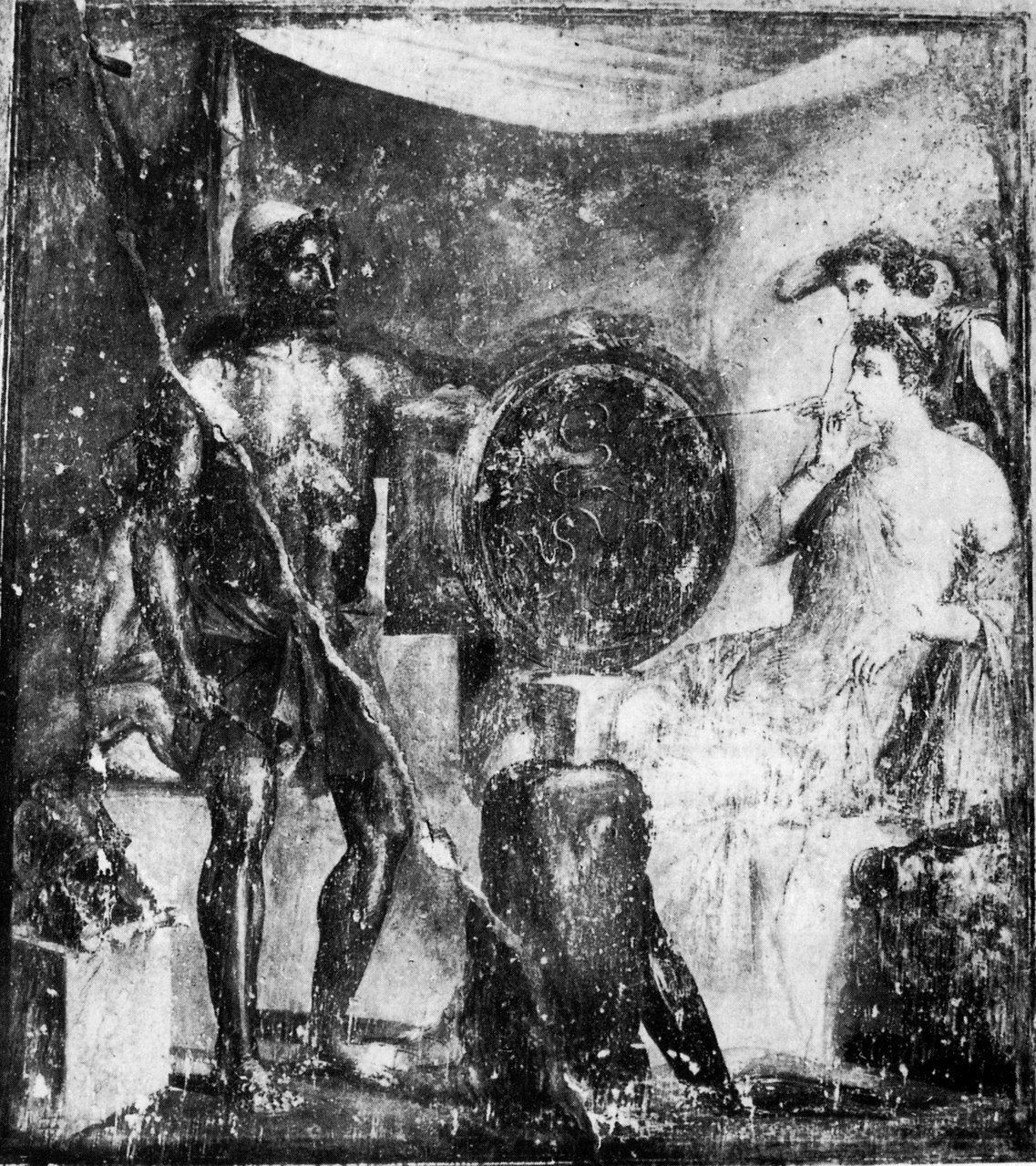 Wall painting from the Domus Uboni (Pompeii IX.5.2), first century AD first century AD. (Reproduced by kind permission of the Institut für Klassische Archäologie und Museum für Abgüsse Klassischer Bildwerke, Ludwig-Maximilians-Universität, Munich)