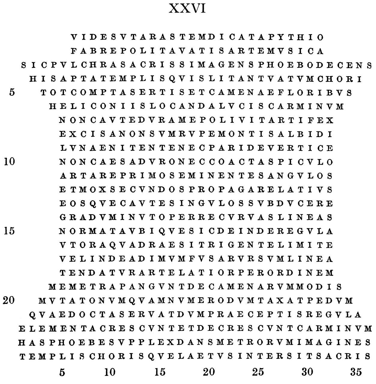 Optatian, poem 26. (Text and presentation by G. Polara)