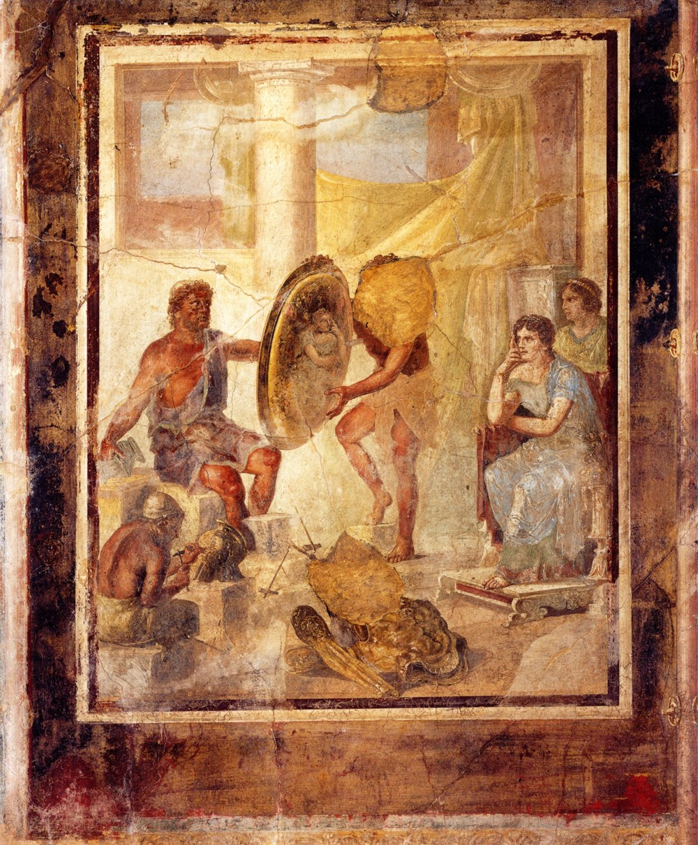 Wall painting from the Casa di Paccius Alexander (Pompeii IX.1.7 = Museo Archeologico Nazionale di Napoli inv. 110338), first century AD. (Reproduced by kind permission of the Institut für Klassische Archäologie und Museum für Abgüsse Klassischer Bildwerke, Ludwig-Maximilians-Universität, Munich)