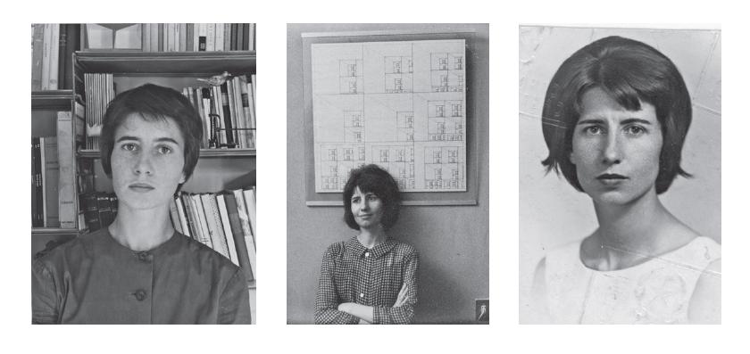 Tre foto di Iela Mari, stampate a p. 52 di Leggenda privata, Torino, Einaudi, 2017