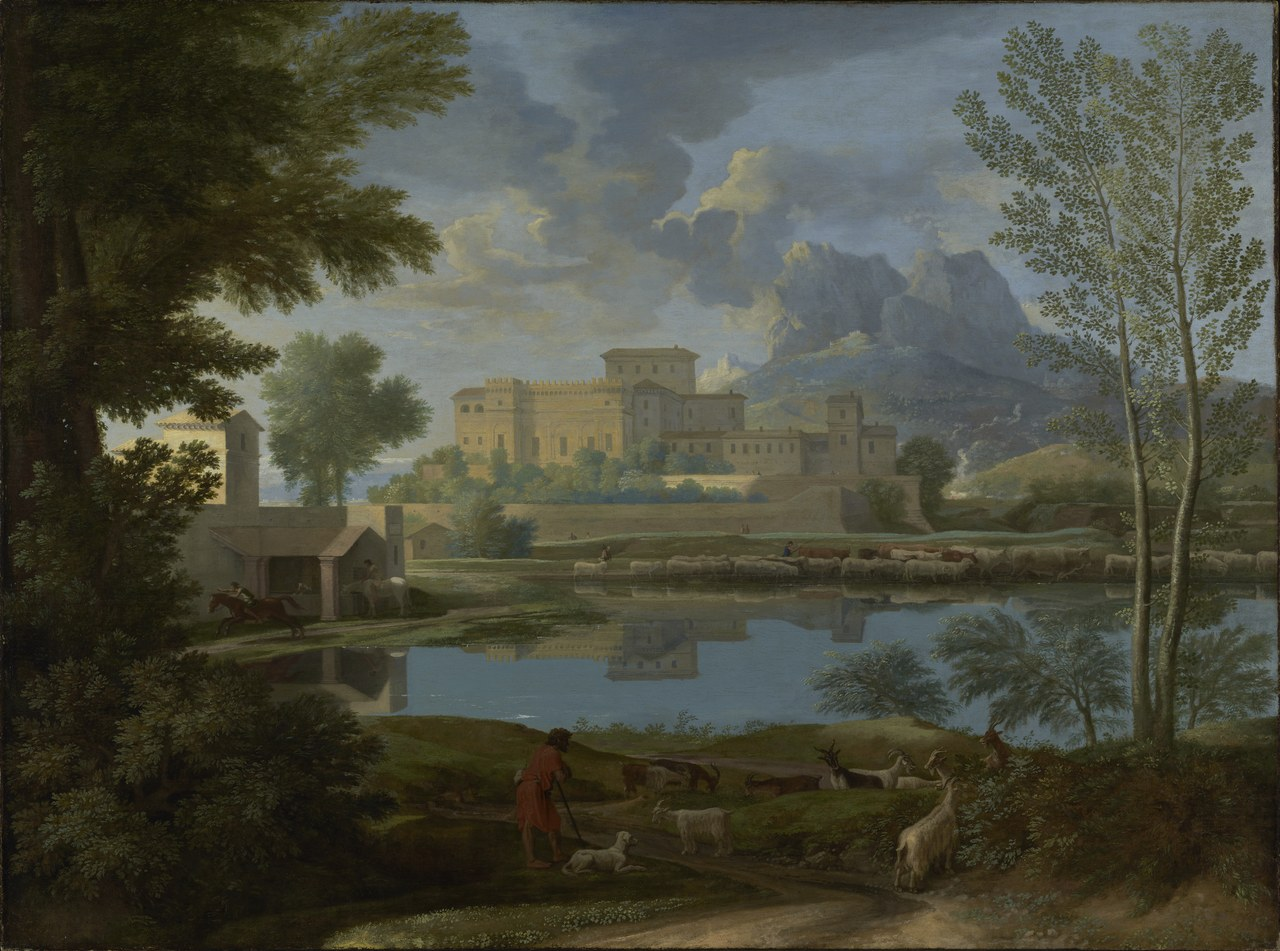 Nicolas Poussin, Landscape with a Calm, 1650-1651, J. Paul Getty Museum, Los Angeles (Digital image courtesy of the Getty's Open Content Program)