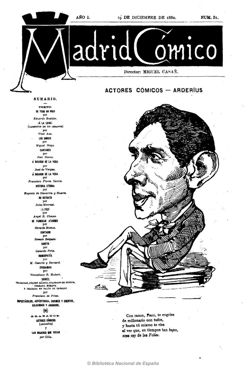 Fig. 1 Madrid Cómico, 19 de diciembre de 1880.