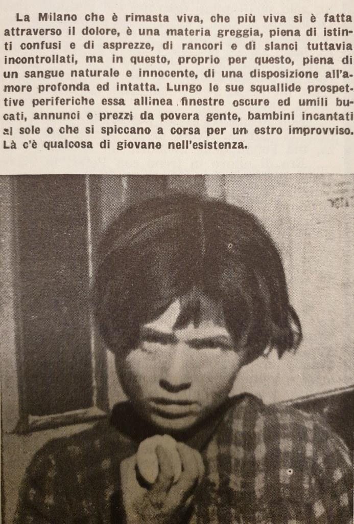 Fig. 4 L. Crocenzi, 'Occhio su Milano', Il Politecnico, 29, 1° maggio 1946, p. 15 (particolare)