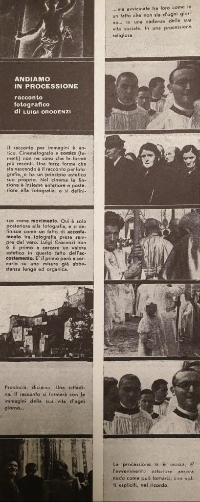 Fig. 5 L. Crocenzi, 'Andiamo in processione', Il Politecnico, 35, gennaio-marzo 1947, p. 54 (particolare)