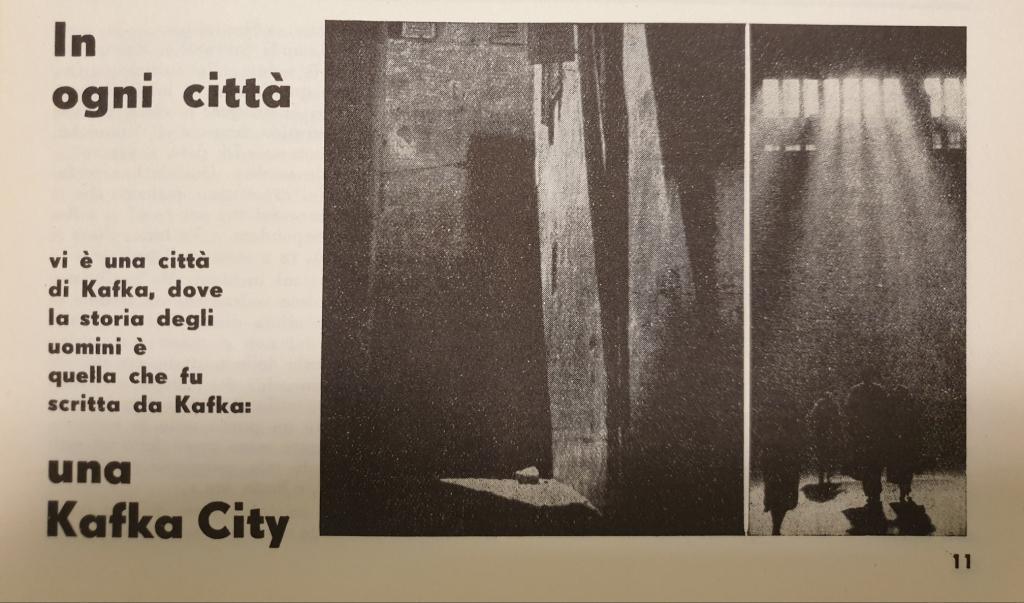 Fig. 7 [L. Crocenzi], 'Kafka City', Il Politecnico, 37, ottobre 1947, p. 11 (particolare)