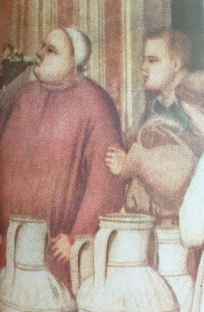 Fig. 2 Giotto, Nozze di Cana (particolare), 1303-1305, Cappella degli Scrovegni, Padova
