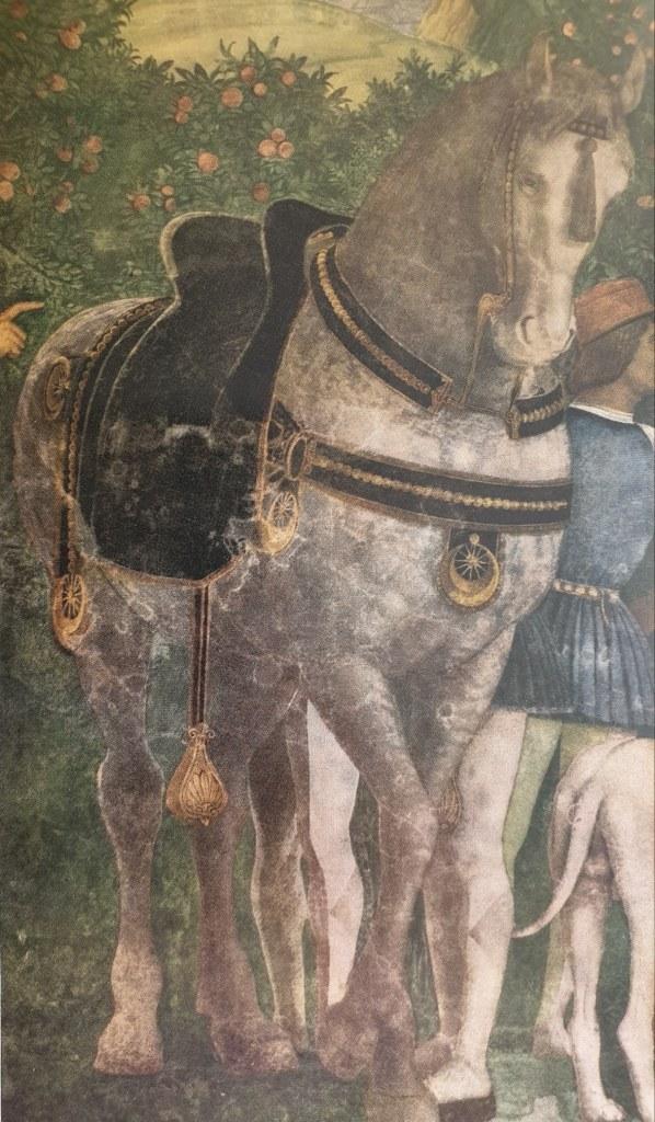 Fig. 4 A. Mantegna, Il ritorno dalla caccia (particolare), 1465 ca.-1474, Castello di San Giorgio (Camera degli sposi), Mantova