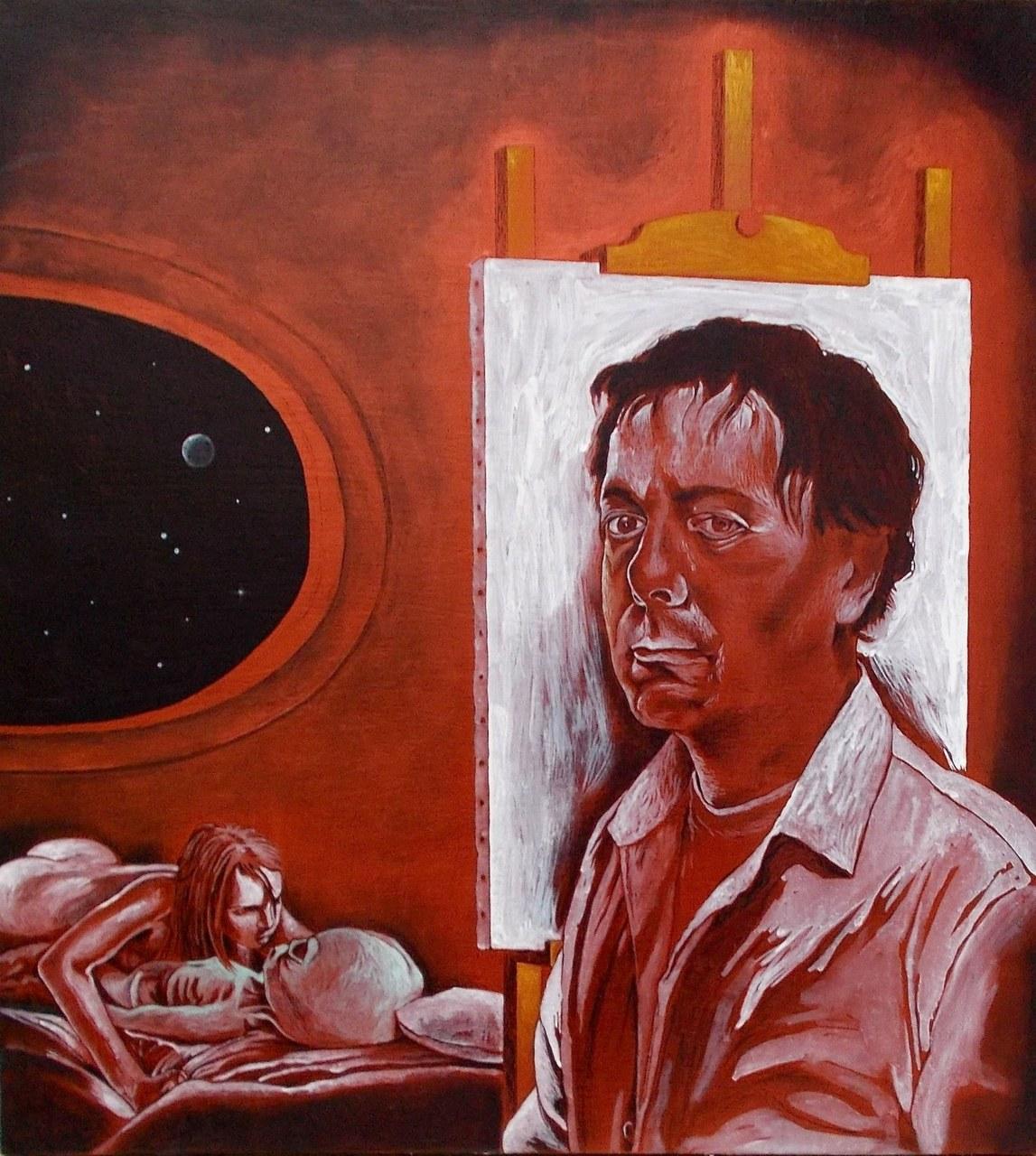 Autoritratto con le spalle rivolte all'arte e alla fantascienza(incompiuto), 2012