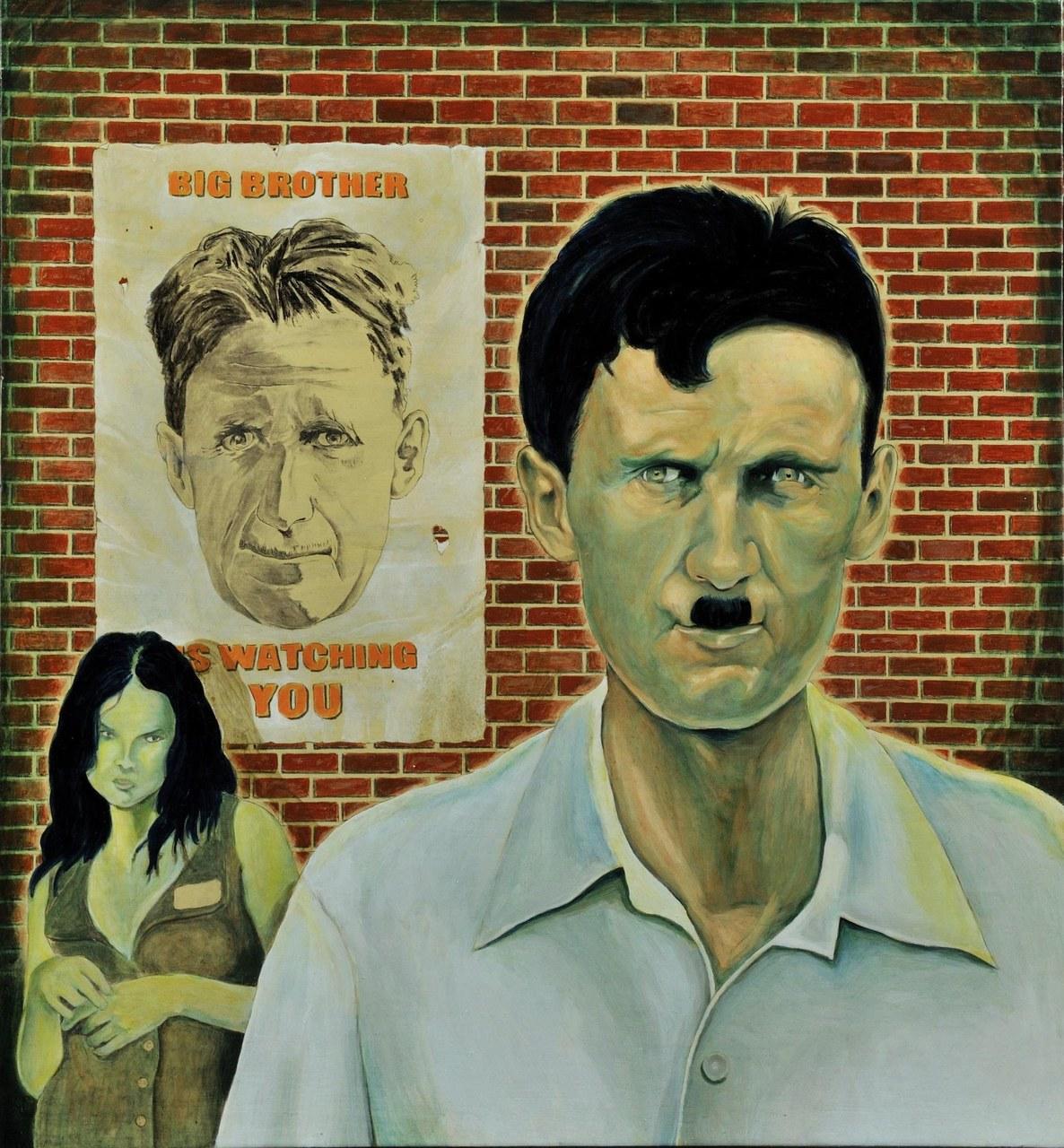 Ritratto di George Orwell con Grande Fratello, 2010