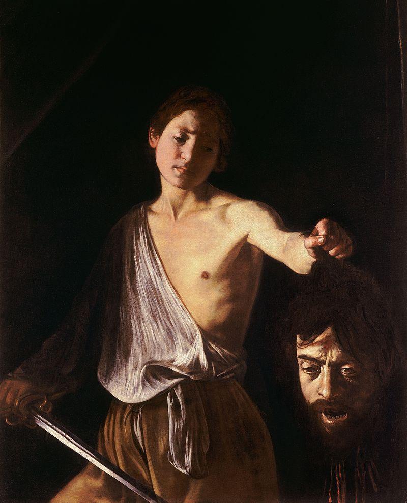 Caravaggio, Davide con la testa di Golia, 1609-1610