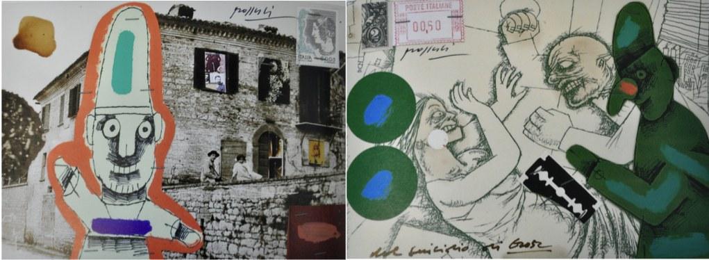 Concetto Pozzati, Dal dizionario delle idee ricevute (Ristoria Prioritaria. 163 cartoline non spedite), 2004