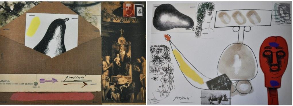 Concetto Pozzati, Dal dizionario delle idee ricevute(Ristoria Prioritaria. 163 cartoline non spedite), 2004