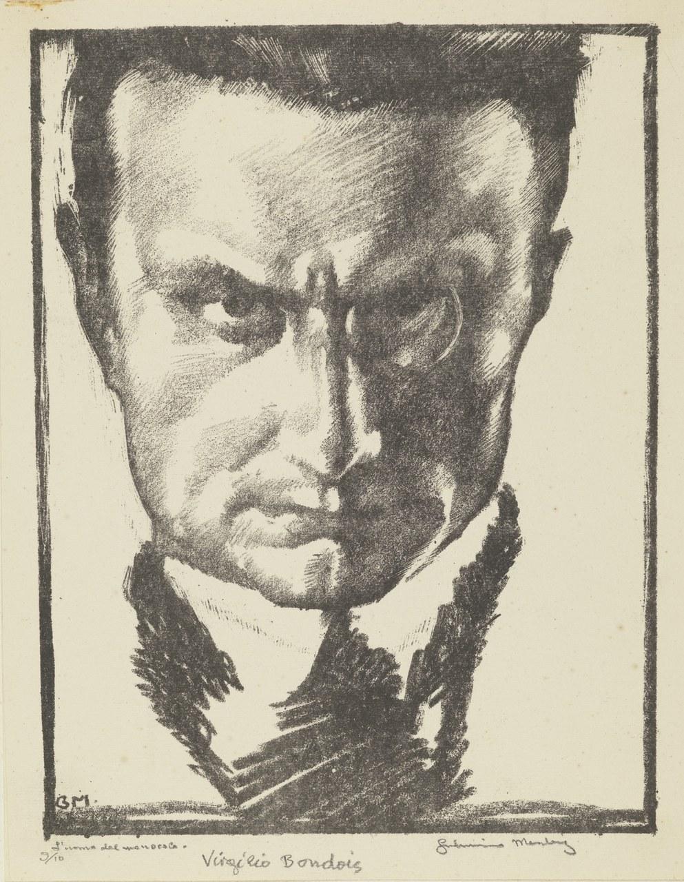 Fig. 2Giannino Marchig, Ritratto di Virgilio Bondois, 1917.