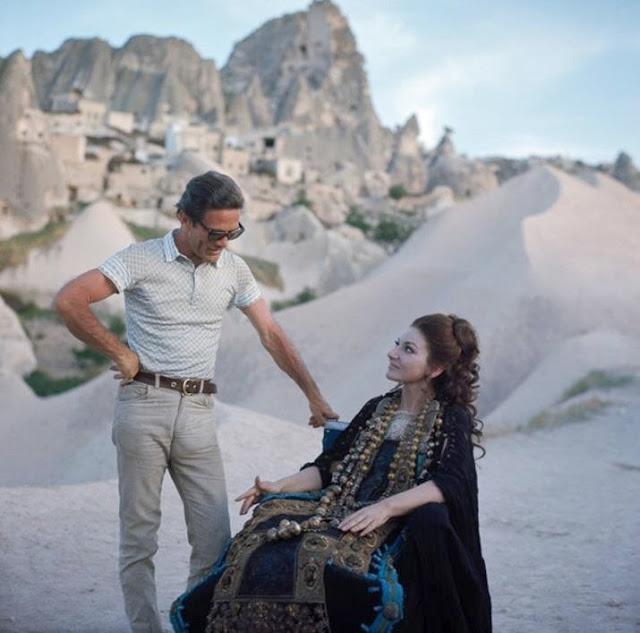 Pier Paolo Pasolini e Maria Callas sul set del filmMedea© Mario Tursi
