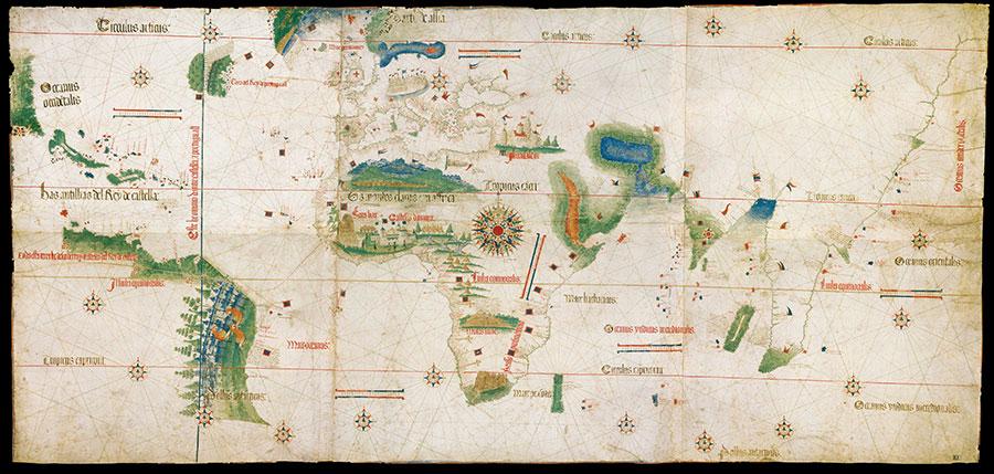 Anonimo portoghese, Carta del Cantino, 1501-02, Modena, Biblioteca Estense Universitaria